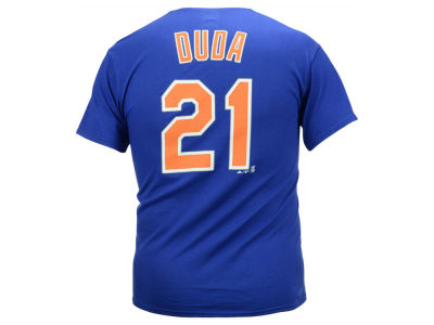 New York Mets Lucas Duda Majestic MLB Men's Official Player T-Shirt