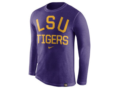 LSU Tigers Nike NCAA Men's Triblend Conviction Long Sleeve T-Shirt