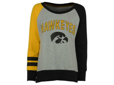 Iowa Hawkeyes NCAA Youth Girls Amethyst Crew Fleece Sweatshirt