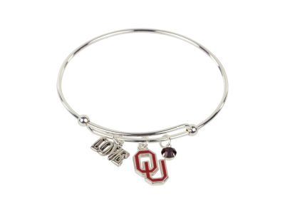 Oklahoma Sooners Coil Love Bangle Bracelet