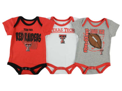 Texas Tech Red Raiders NCAA Newborn 3 Points 3-Piece Creeper Set