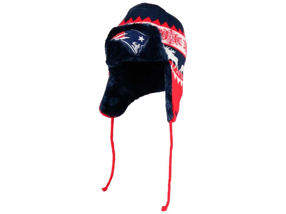6dec3978728 New England Patriots New Era NFL Moose Trapper Knit