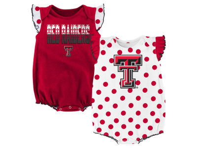 Texas Tech Red Raiders NCAA Infant Girls Polka Dot Fan Set