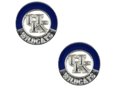 Kentucky Wildcats Two Tone Logo Stud Earrings