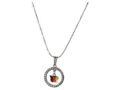 Louisville Cardinals Circle Crystal Necklace