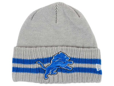 Detroit Lions New Era NFL 2 Striped Cuff Knit