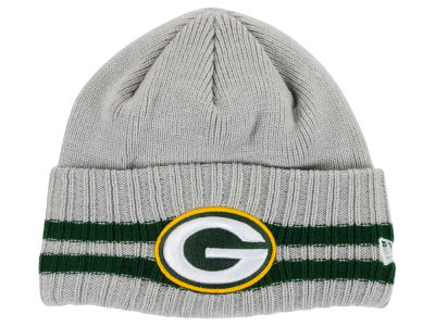 Green Bay Packers New Era NFL 2 Striped Cuff Knit