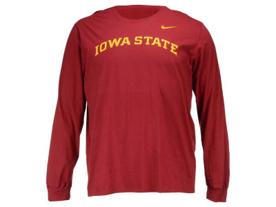 Iowa State Cyclones Nike NCAA Men's Cotton Wordmark Long Sleeve T-Shirt