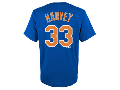 New York Mets Matt Harvey Majestic MLB Youth Official Player T-Shirt