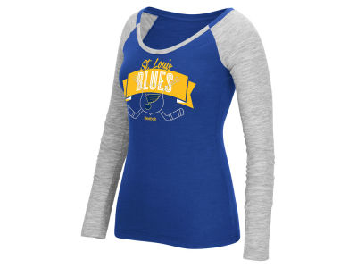 St. Louis Blues Reebok NHL Women's Approval Long Sleeve T-Shirt