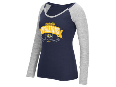 Nashville Predators Reebok NHL Women's Approval Long Sleeve T-Shirt