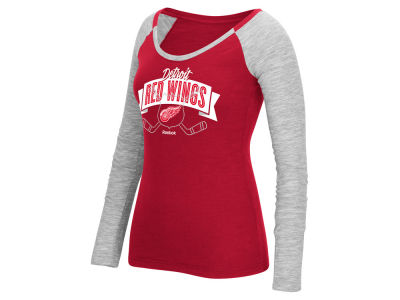 Detroit Red Wings Reebok NHL Women's Approval Long Sleeve T-Shirt