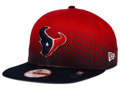 Houston Texans New Era NFL Line Fade 9FIFTY Snapback Cap