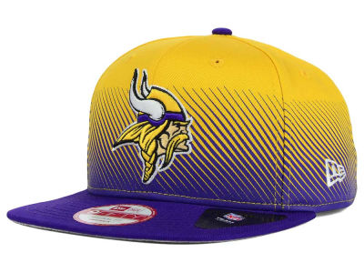 Minnesota Vikings New Era NFL Line Fade 9FIFTY Snapback Cap