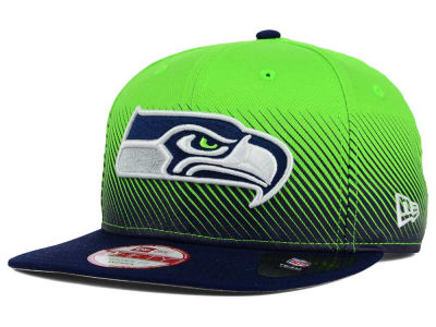 Seattle Seahawks New Era NFL Line Fade 9FIFTY Snapback Cap