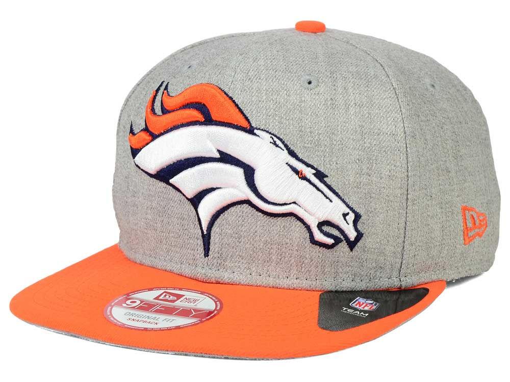 03bca09a3a9 Denver Broncos New Era NFL Logo Grand 9FIFTY Snapback Cap