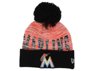 Miami Marlins New Era MLB Word Fuzz Knit