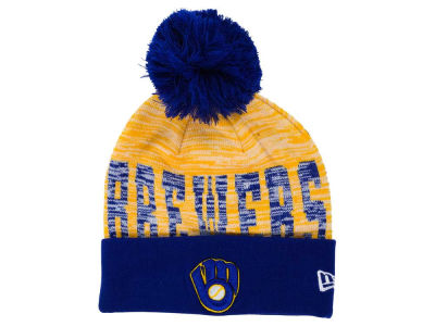 Milwaukee Brewers New Era MLB Word Fuzz Knit