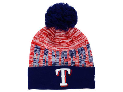 Texas Rangers New Era MLB Word Fuzz Knit