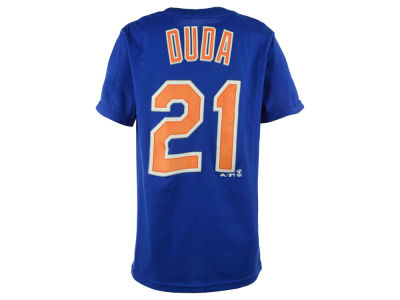 New York Mets Lucas Duda Majestic MLB Youth Official Player T-Shirt
