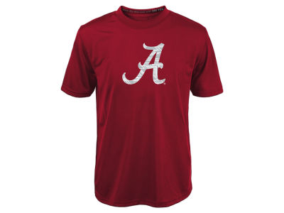 Alabama Crimson Tide NCAA Kids Power Grid Logo Performance T-Shirt