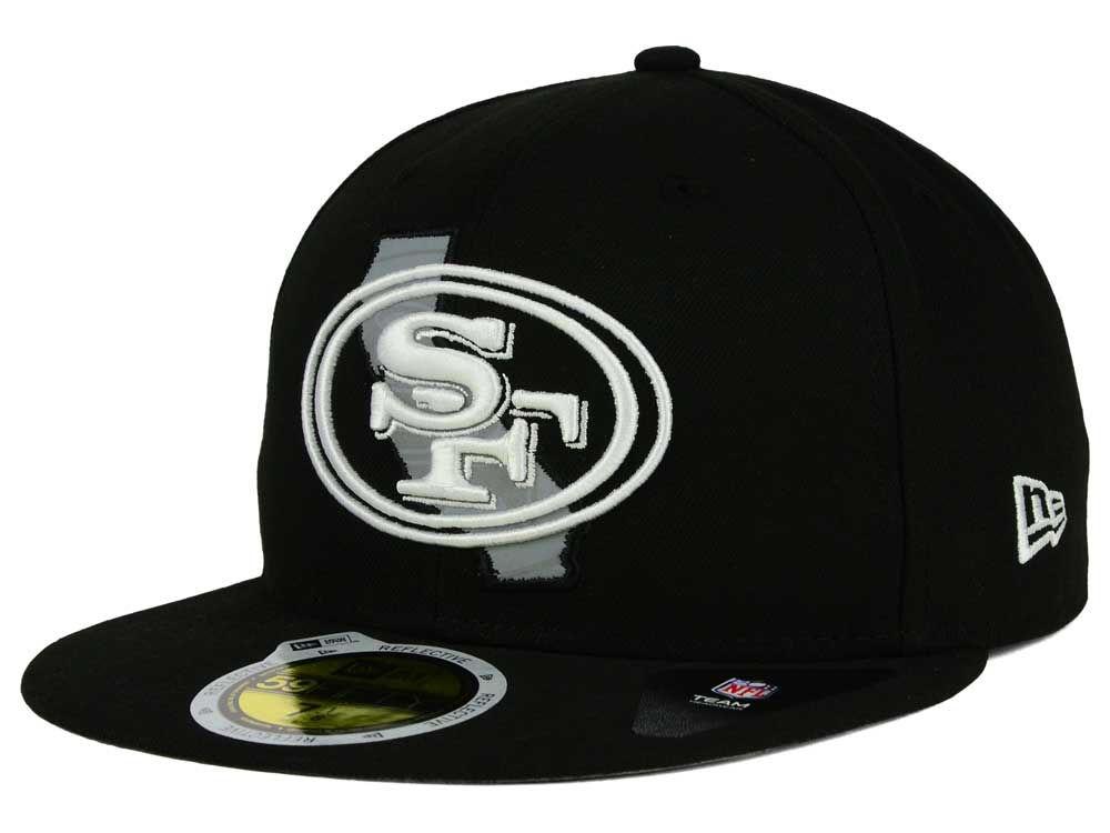 b6dc774fe43 San Francisco 49ers New Era NFL State Flective Redux 59FIFTY Cap ...