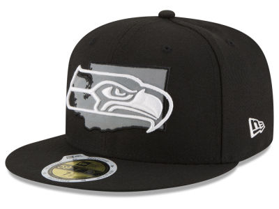 Seattle Seahawks New Era NFL State Flective Redux 59FIFTY Cap