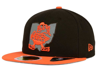 Cleveland Browns New Era NFL State Flective Redux 59FIFTY Cap