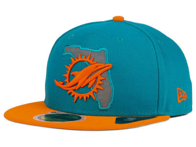 Miami Dolphins New Era NFL State Flective Redux 59FIFTY Cap