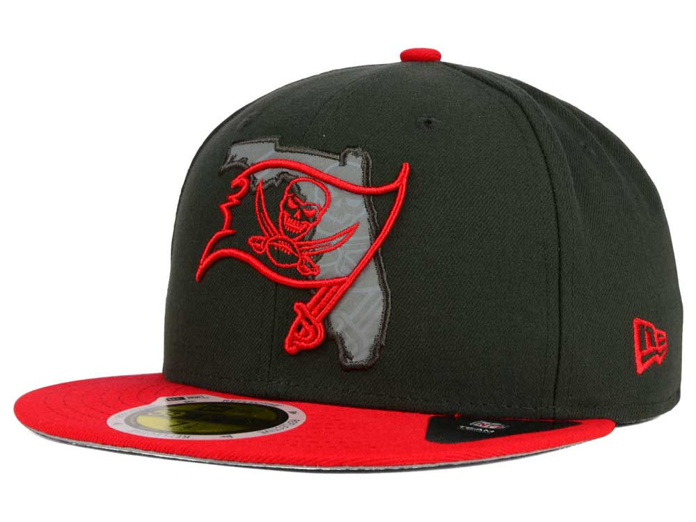 Tampa Bay Buccaneers New Era NFL State Flective Redux 59FIFTY Cap ... 84f0787d3