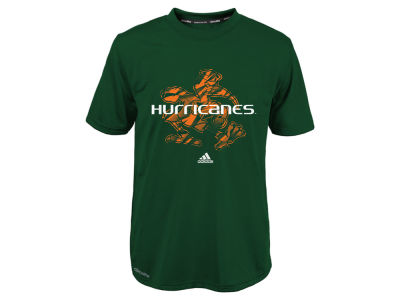 Miami Hurricanes NCAA Youth Sideline Stitch Climalite T-Shirt