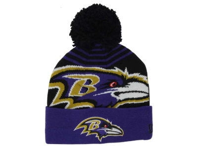 Baltimore Ravens New Era NFL Logo Whiz Pom Knit