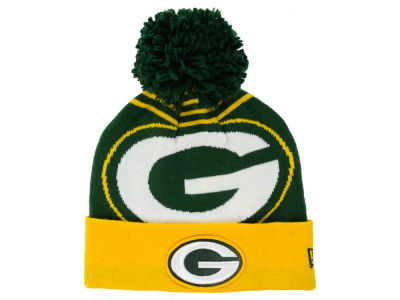 Green Bay Packers New Era NFL Logo Whiz Pom Knit