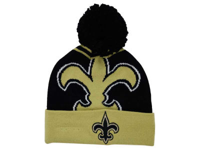 New Orleans Saints New Era NFL Logo Whiz Pom Knit
