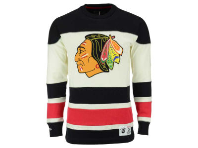 Chicago Blackhawks Mitchell and Ness NHL Men's Change On The Fly Longsleeve Jersey T-Shirt