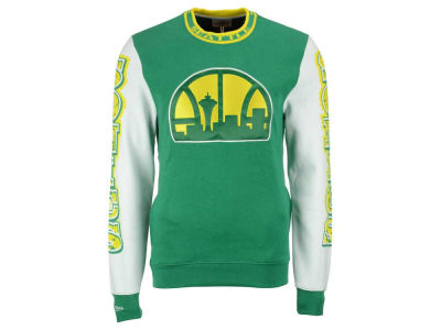 Seattle SuperSonics Mitchell and Ness NBA Men's Excessive Celebration Crew Sweatshirt