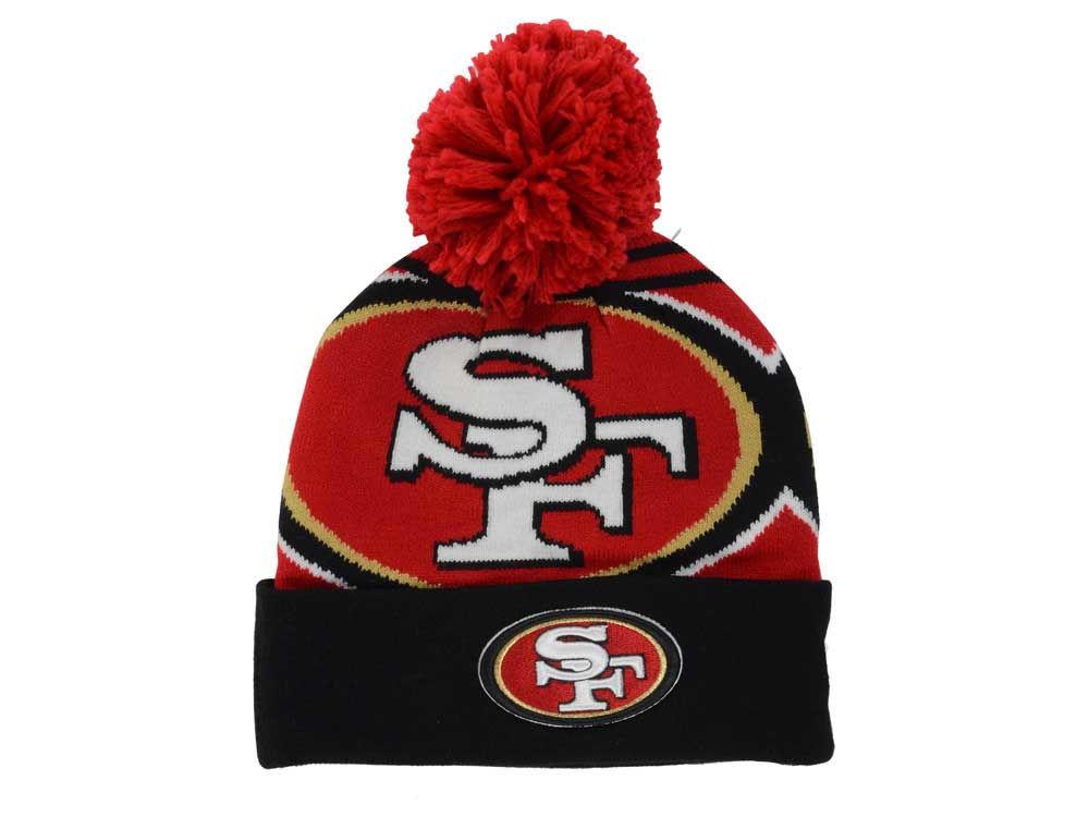 online store 9e8c2 6f9cd ... switzerland san francisco 49ers new era nfl logo whiz pom knit a212d  b460d