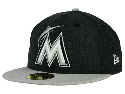 Miami Marlins New Era MLB Heather Action 59FIFTY Cap