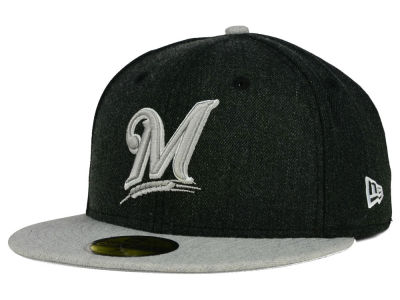 Milwaukee Brewers New Era MLB Heather Action 59FIFTY Cap