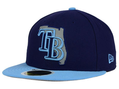 Tampa Bay Rays New Era MLB State Reflective Redux 59FIFTY Cap