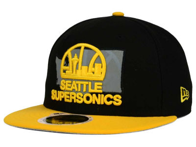 Seattle SuperSonics New Era NBA HWC State Reflective Redux 59FIFTY Cap