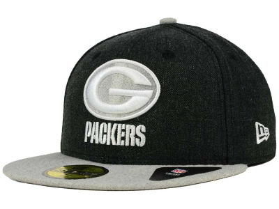 Green Bay Packers New Era NFL Heather Action 2 Tone 59FIFTY Cap