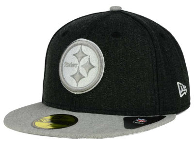 Pittsburgh Steelers New Era NFL Heather Action 2 Tone 59FIFTY Cap