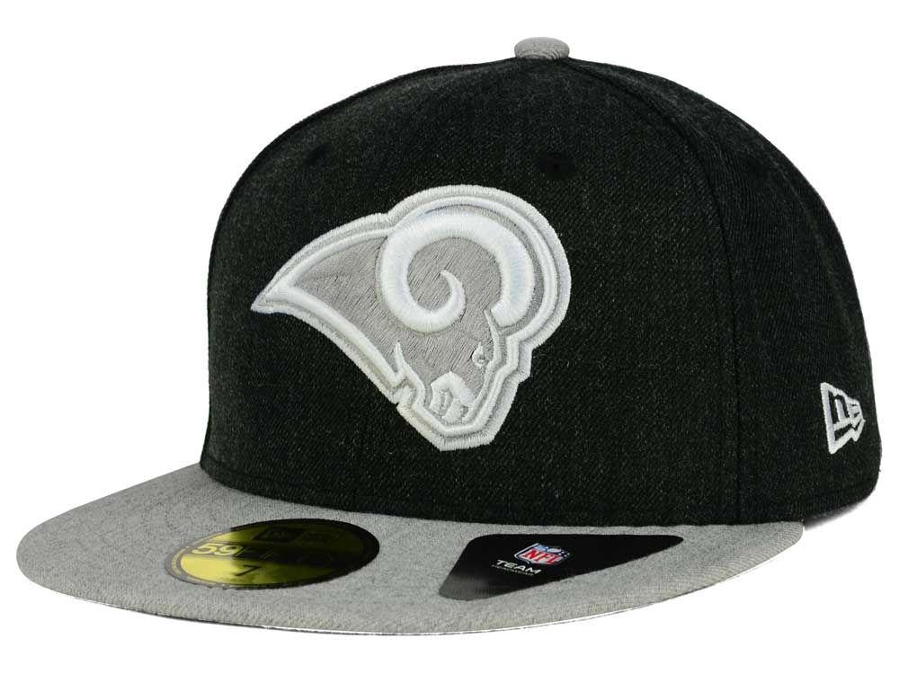 Los Angeles Rams New Era NFL Heather Action 2 Tone 59FIFTY Cap ... 064b0eec5