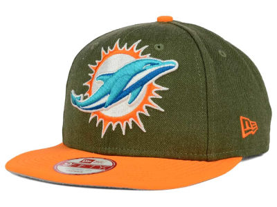 Miami Dolphins New Era NFL Logo Grand 9FIFTY Snapback Cap