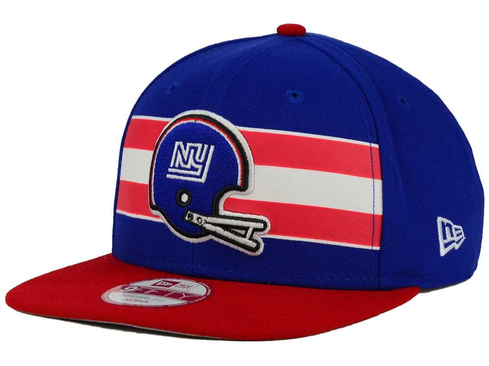 New York Giants New Era NFL Retro Striped 9FIFTY Snapback Cap  af07457c95aa
