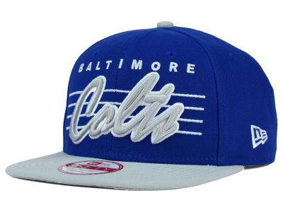 Indianapolis Colts New Era NFL Stripe Frontier 9FIFTY Snapback Cap