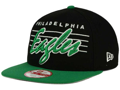 Philadelphia Eagles New Era NFL Stripe Frontier 9FIFTY Snapback Cap