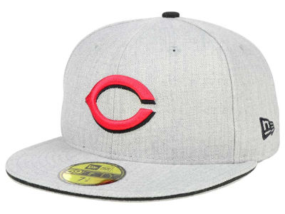 Cincinnati Reds New Era MLB Heather Slice 59FIFTY Cap