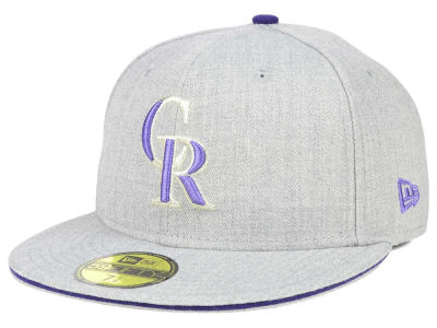 Colorado Rockies New Era MLB Heather Slice 59FIFTY Cap